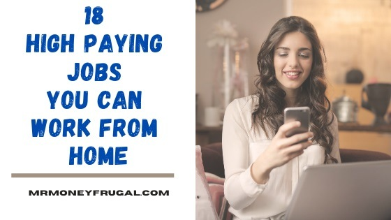 18 high paying jobs you can work from home